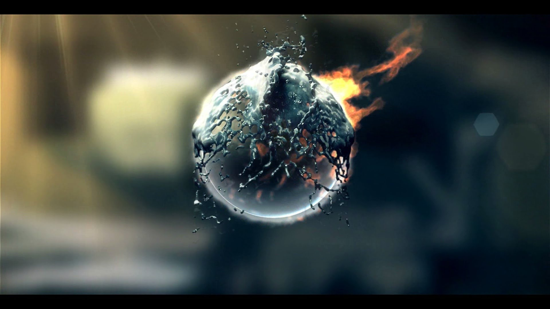 Fire Amp Water Splash Logo Intro 24 Sony Vegas Pro Template