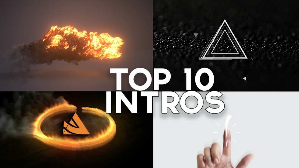 TOP 10 2D & 3D Intro Templates Sony Vegas Pro
