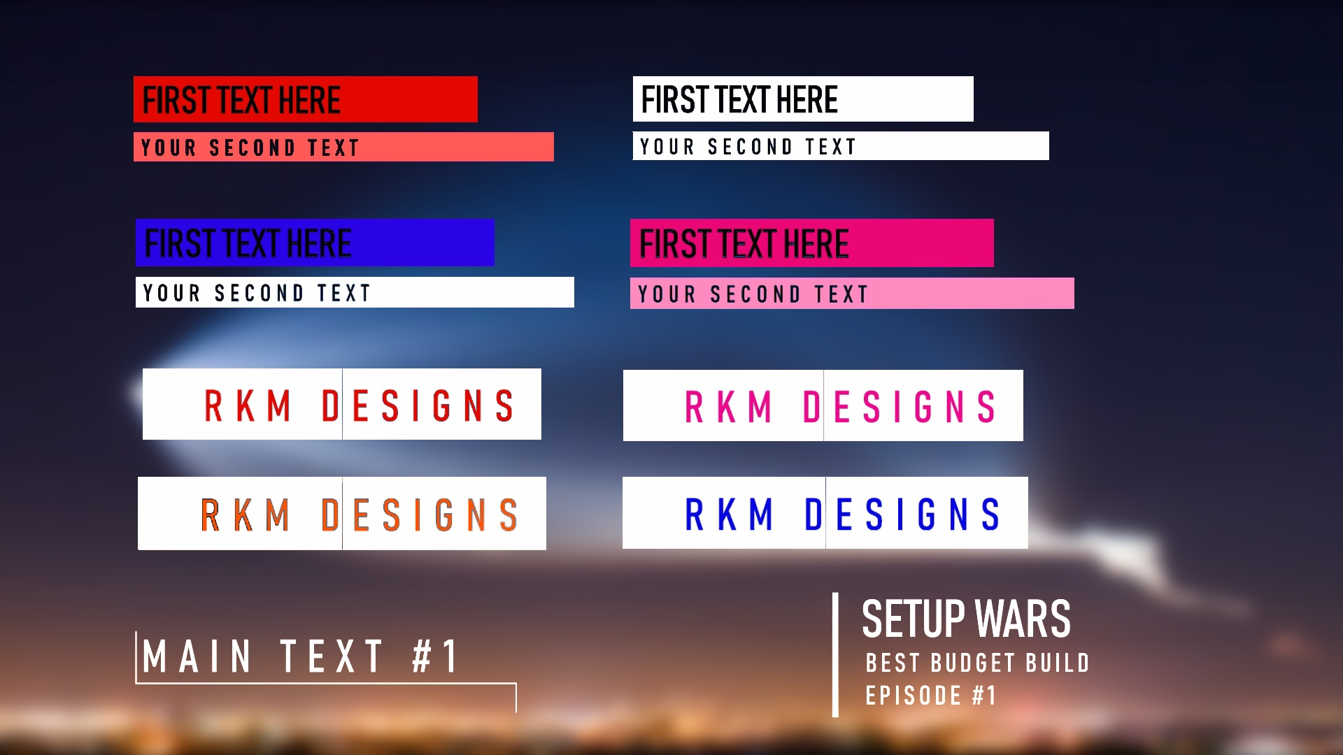 Free Lower Thirds Green Screen Pack 1 W Sony Vegas Pro Template